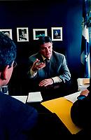 Municipal Affairs Minister Paul Begin in 1999 interview, in Quebec City<br /> Entrevue avec Paul B&Egrave;gin, Ministre des Affaires Municipales, en 1999 &Dagger; Qu&Egrave;bec