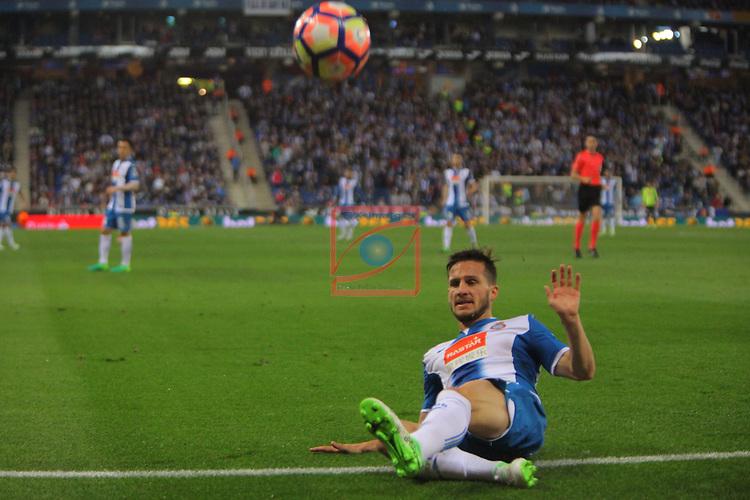 League Santander 2016/2017. Game: 33.<br /> RCD Espanyol vs Atletico de Madrid: 0-1.<br /> Pablo Piatti.