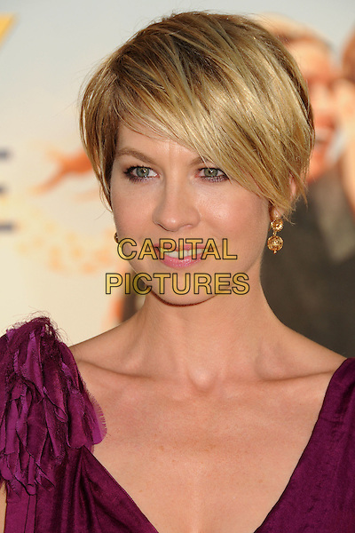 "Jenna Elfman.""Larry Crowne"" Los Angeles Premiere held at Grauman's Chinese Theatre.  Hollywood, California, USA..27th June 2011.headshot portrait purple .CAP/ADM/BP.©Byron Purvis/AdMedia/Capital Pictures."