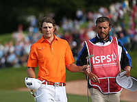 Peter Uihlein (USA) walks away empty handed at the end of the final round of the 2013 ISPS Handa Wales Open from the Celtic Manor Resort, Newport, Wales. Picture:  David Lloyd / www.golffile.ie