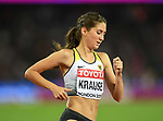 Gesa Felicitas KRAUSE (GER) in the womens 3000m steeplechase final. IAAF world athletics championships. London Olympic stadium. Queen Elizabeth Olympic park. Stratford. London. UK. 11/08/2017. ~ MANDATORY CREDIT Garry Bowden/SIPPA - NO UNAUTHORISED USE - +44 7837 394578