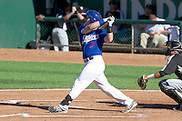 Austin Cowen (7) of the Ogden Raptors at bat against the Grand Junction Rockies on June 19, 2014 at Lindquist Field in Ogden, Utah. (Stephen Smith/Four Seam Images)