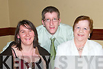 Catherine, Mike and Rose Dee pose for a photo at the Listowel Community Hospital social in The Arms Hotel on Saturday night..   Copyright Kerry's Eye 2008