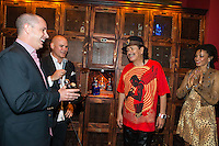 LAS VEGAS, NV - SEPTEMBER 12: Carlos Santana and Cindy Blackman Santana pictured as Carlos Santana Kicks off fall residency shows at House of Blues Las Vegas and honored with a Casa Noble tequila Locker at The Foundation Room at House of Blues in Las Vegas, NV on September 12, 2012. &copy; RD/Kabik/ Starlitepics/MediaPunch Inc.***HOUSE COVERAGE*** /NortePhoto.com<br /> <br /> **CREDITO*OBLIGATORIO** *No*Venta*A*Terceros*<br /> *No*Sale*So*third*...