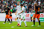 05.08.2017, Weser Stadion, Bremen, FSP, SV Werder Bremen (GER) vs FC Valencia (ESP) , <br /> <br /> im Bild | picture shows<br /> Johannes Eggestein (SV Werder Bremen #24) freut sich über seinen Treffer zum 2:2, der allerdings nicht zählt, <br /> <br /> Foto © nordphoto / Rauch