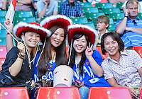 August 10, 2012..supporter of Japan men's soccer team during bronze medal match at the Millennium Stadium on day fourteen in Cardiff, England. Korea defeat Japan 2-0 to win Olympic bronze medal in men's soccer. ..