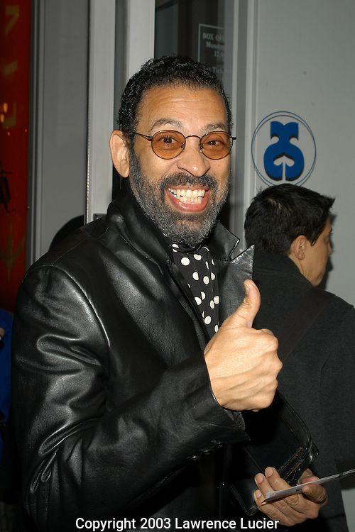NEW YORK - NOVEMBER 11: Performing artist Maurice Hines arrives November 11, 2003, at the off Broadway opening of FAME at the Little Shubert Theater in New York City.