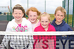 Ailbhe Clifford, Rachel Sheahan, Shauna Sheahan and Brian Griffin Glenbeigh at the opening of the Sports courts in Rossbeigh beach on Sunday