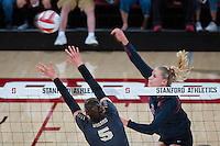 STANFORD, CA - September 9, 2016: Hayley Hodson at Maples Pavilion. The Purdue Boilermakers defeated the Stanford Cardinal 3 - 2.