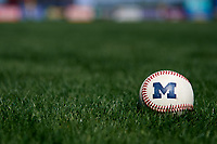 General view of a Michigan Wolverines baseball in the grass before a game against Army West Point on February 17, 2018 at Tradition Field in St. Lucie, Florida.  Army defeated Michigan 4-3.  (Mike Janes/Four Seam Images)