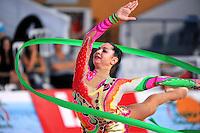 Anna Gurbanova of Azerbaijan performs with ribbon at 2010 Holon Grand Prix at Holon, Israel on September 3, 2010.  (Photo by Tom Theobald).
