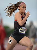 NWA Democrat-Gazette/ANDY SHUPE<br /> Arkansas' Alexandra Byrnes competes Thursday, May 9, 2019, in the 800 meters during the SEC Outdoor Track and Field Championships at John McDonnell Field in Fayetteville. Visit nwadg.com/photos to see more photographs from the meet.