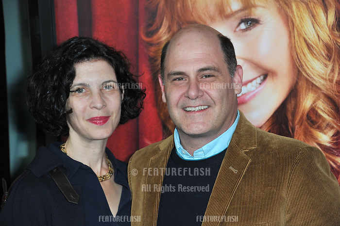 """Matthew Weiner & wife Linda Brettler at the premiere of HBO TV series """"The Comeback"""" at the El Capitan Theatre, Hollywood.<br /> November 5, 2014  Los Angeles, CA<br /> Picture: Paul Smith / Featureflash"""