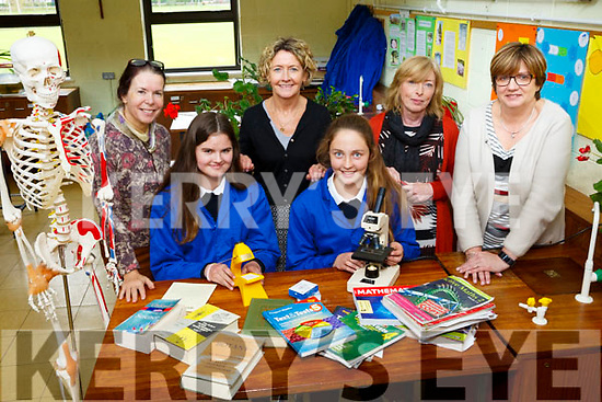 Presentation Secondary school students Aisling Harty and Mary O'Connell are through to the  Science Mathematic  Olympiad at DCU in October. Pictured with teachers Clem O'Keeffe, (Science), Rita O'Donoghue, (science), Margret O'Connell, (Maths) and Kay O'Mahony, (science)