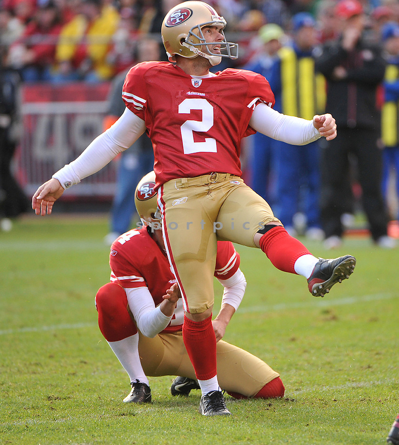DAVID AKERS, of the San Francisco 49ers, in action during the 49ers game against the Arizona Cardinals on November 20, 2011 at Candlestick Park in San Francisco, CA. San Francisco beat Arizona 23-7.