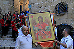 Israel, Jaffa, an icon of St. Michael's at the Greek Orthodox St. Michael's Church