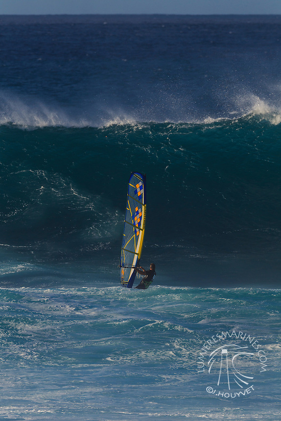 Pascal hardy at the 6th and final stop of the 2012 American Windsurfing Tour (AWT), in Ho'okipa Beach Park (Maui, Hawaii, USA)