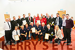 A Civic Reception was held for rescue groups in the South and West Municipal District on Friday last including Ballinskelligs and Derrynane Inshore Rescue groups, Dingle and Iveragh Coastguard Units, Valentia Coastguard Radio Station and Valentia Lifeboat. Pictured are front l-r: Frank Heidtke (Dingle CG), Jim Twohig, Damian O'Driscoll, Steve Lynott, Declan Kirby and Gerald Fitzgerald (Ballinskelligs Inshore Rescue), John O'Sullivan (Valentia Coastguard Radio) and Cllr Norma Moriarty. Back l-r: Mike Johnson (Dingle CG), John O'Dwyer, Jonathan Walsh (Iveragh CG), Tim O'Keeffe (CG sector manager), Tony Donnelly (Iveragh CG), Mayor of S&W Patrick O'Connor Scarteen, Michael Donnelly, Jonathan Hughes, Helen Wilson and Caroline Donnelly (Derrynane Inshore Rescue), Cllr Damien Quigg, Cllr Dan McCarthy, Declan Geoghegan, John Draper and Richard Quigg (Valentia CG radio station and Valentia lifeboat), Cllr Mike O'Shea and Cllr John Francis Flynn.