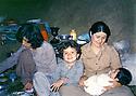 Iraq 1981 .In july,in Tujala, a gauche Pakshan Hafid with Sabiha, wife of Jabar Fermand and children  .Irak 1981 .En juillet a Tujala, a gauche Pakchan Hafid avec Sabiha, femme de Jabar Fermand