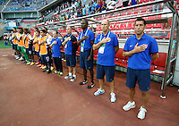 USA's Coach Tab Ramos (R) during their FIFA U-20 World Cup Turkey 2013 Group Stage Group A soccer match Ghana betwen USA at the Kadir Has stadium in Kayseri on June 27, 2013. Photo by Aykut AKICI/isiphotos.com