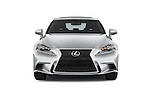 Car photography straight front view of a 2015 Lexus IS 350 4 Door Sedan