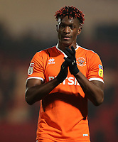 Blackpool's Armand Gnanduillet at the end of days match<br /> <br /> <br /> Photographer Rachel Holborn/CameraSport<br /> <br /> The EFL Sky Bet League One - Doncaster Rovers v Blackpool - Tuesday 27th November 2018 - Keepmoat Stadium - Doncaster<br /> <br /> World Copyright &copy; 2018 CameraSport. All rights reserved. 43 Linden Ave. Countesthorpe. Leicester. England. LE8 5PG - Tel: +44 (0) 116 277 4147 - admin@camerasport.com - www.camerasport.com