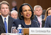 Former United States Secretary of State Condoleezza Rice introduces Judge Brett Kavanaugh before the US Senate Judiciary Committee on his nomination as Associate Justice of the US Supreme Court to replace the retiring Justice Anthony Kennedy on Capitol Hill in Washington, DC on Tuesday, September 4, 2018.<br /> Credit: Ron Sachs / CNP<br /> (RESTRICTION: NO New York or New Jersey Newspapers or newspapers within a 75 mile radius of New York City)
