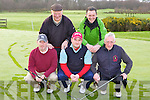 Castlerosse golfers ready to head out into the mist on Sunday morning for a round on their course l-r: JB Doran, Dan O'Connell, Brian Holden, Gene Cronin and Mick Clifford..