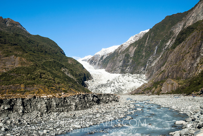 Franz Josef Glacier and Waiho River, Westland Tai Poutini National Park, West Coast, UNESCO World Heritage Area, New Zealand, NZ