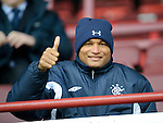 Daniel Cousin approves of Rangers 4-1 victory at Dunfermline and has just signed for Rangers. Or maybe not...