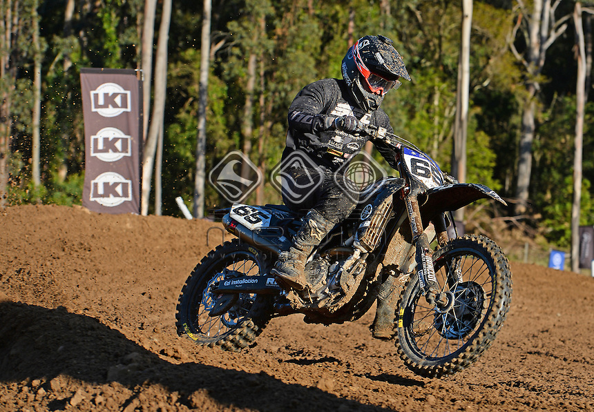 Dan McCoy / Yamaha<br /> MX Nationals / Round 6 / MX1<br /> Australian Motocross Championships<br /> Raymond Terrace NSW<br /> Sunday 5 July 2015<br /> &copy; Sport the library / Jeff Crow