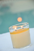 Royalty Free Relaxation and Peace candles and water