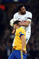 Sami Khedira of Juventus and Mousa Dembele of Tottenham Hotspur during Tottenham Hotspur vs Juventus, UEFA Champions League Football at Wembley Stadium on 7th March 2018