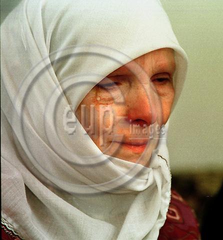 MACEDONIA/TETOVO 31, MARCH 2001--Albanian refugee Ruhide RAMACANI. -- PHOTO: JUHA ROININEN / EUP-IMAGES