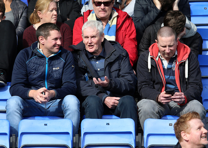 Blackburn Rovers fans enjoy the pre-match atmosphere <br /> <br /> Photographer David Shipman/CameraSport<br /> <br /> The EFL Sky Bet League One - Shrewsbury Town v Blackburn Rovers - Saturday 23rd September 2017 - New Meadow - Shrewsbury<br /> <br /> World Copyright &copy; 2017 CameraSport. All rights reserved. 43 Linden Ave. Countesthorpe. Leicester. England. LE8 5PG - Tel: +44 (0) 116 277 4147 - admin@camerasport.com - www.camerasport.com