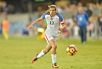 San Jose, CA - November 10, 2016: The U.S. Women's National team go up 7-1 over Romania during an international friendly game at Avaya Stadium.