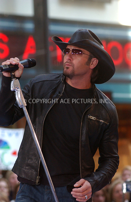WWW.ACEPIXS.COM . . . . . ......March 31 2006, New York City....Country singer Tim McGraw performed on NBC's Today Show at the Rockefeller Plaza in Midtown Manhattan.....Please byline: KRISTIN CALLAHAN - ACEPIXS.COM.. . . . . . ..Ace Pictures, Inc:  ..Philip Vaughan (212) 243-8787 or (646) 769 0430..e-mail: info@acepixs.com..web: http://www.acepixs.com