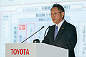 Toyota Motor Corp. President and CEO Akio Toyoda speaks during a press conference on May 10, 2017, Tokyo, Japan. Toyota Motor Corp. announced its annual financial results for the fiscal year which ended March 31, 2017. The results saw net profits fall for first time in five years. (Photo by Rodrigo Reyes Marin/AFLO)