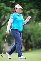 Inbee Park (KOR) after sinking her putt on 2 during round 3 of  the Volunteers of America Texas Shootout Presented by JTBC, at the Las Colinas Country Club in Irving, Texas, USA. 4/29/2017.<br /> Picture: Golffile | Ken Murray<br /> <br /> <br /> All photo usage must carry mandatory copyright credit (&copy; Golffile | Ken Murray)