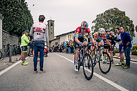 Bob Jungels (LUX/Deceuninck - Quick Step) at the top of the Madonna del Ghisallo (754m)<br /> <br /> 113th Il Lombardia 2019 (1.UWT)<br /> 1 day race from Bergamo to Como (ITA/243km)<br /> <br /> ©kramon