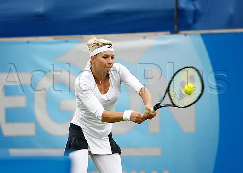 20.06.2013 Eastbourne, England.  Yanina Wickmayer(BEL) defeats Maria Kirilenko(RUS) by a score 6-2, 1-6, 7-5 at Devonshire Park