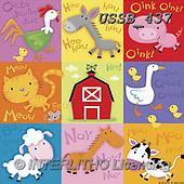 Sarah, CUTE ANIMALS, LUSTIGE TIERE, ANIMALITOS DIVERTIDOS, paintings+++++,USSB437,#AC#, EVERYDAY ,collage,farm animals