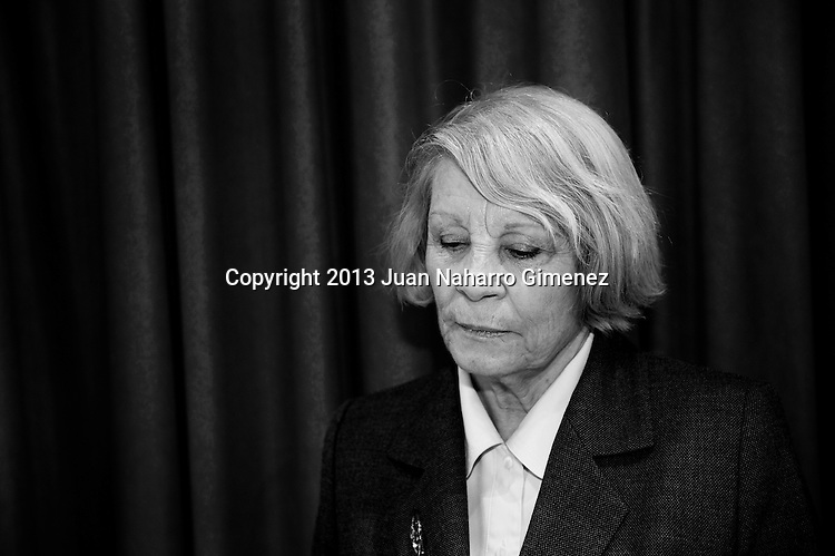 "MADRID, SPAIN - MARCH 12:  Pilar Garrido poses in a portrait session during ""Del Guateque al Altar"" book presentation at Circulo de Lectores on March 12, 2013 in Madrid, Spain.  (Photo by Juan Naharro Gimenez)"