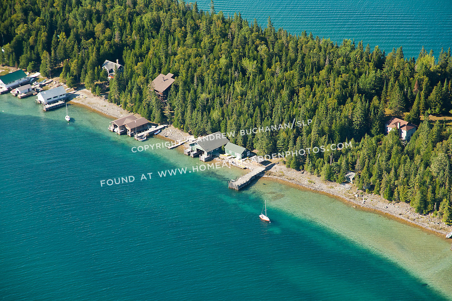 the west side of Coryell Island shoreline, Les Cheneaux area of Lake Huron near Cedarville, MI