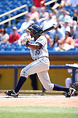 West Michigan Whitecaps outfielder P.J. Polk #10 at bat during the first game of a double header against the Lake County Captains at Classic Park on May 30, 2011 in Eastlake, Ohio.  West Michigan defeated Lake County 5-0.  Photo By Mike Janes/Four Seam Images
