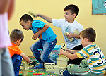 Roma children playing in the Nasa Radost preschool in Smederevo, Serbia.