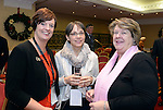 Jenny DeSaulles, Failte Ireland, Mary Rose Stafford, Tralee Institute and Bernadette Randles, The Dromhall Hotel, Killarney pictured at the National Tourism Forum in The Muckross Park Hotel, Killarney at the weekend. <br /> Over 200 delegates from all over Ireland attend the inaugural event which was addressed by national and international speakers.<br /> Photo: Don MacMonagle<br /> <br /> Repro free photo