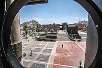 vista panorámica de cerro de la campana y Centro de Gobierno en el Vado del Rio de Hermosillo, Sonora