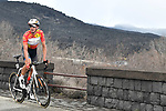 Race leader Brandon McNulty (USA) Rally UHC Cycling on the slopes of Mount Etna during Stage 4 of Il Giro di Sicilia 2019 running 119km from Giardini Naxos to Mount Etna (Nicolosi), Italy. 6th April 2019.<br /> Picture: LaPresse/Fabio Ferrari | Cyclefile<br /> <br /> All photos usage must carry mandatory copyright credit (&copy; Cyclefile | LaPresse/Fabio Ferrari)