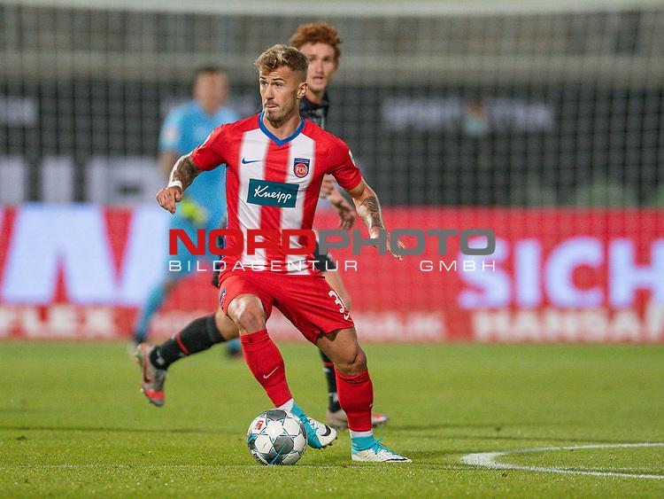Niklas Dorsch (FC Heidenheim, #36), Joshua Sargent (SV Werder Bremen #19),<br /> <br /> GER, FC Heidenheim vs. Werder Bremen, Fussball, Bundesliga Religation, 2019/2020, 06.07.2020,<br /> <br /> DFB/DFL regulations prohibit any use of photographs as image sequences and/or quasi-video., <br /> <br /> <br /> Foto: EIBNER/Sascha Walther/Pool/gumzmedia/nordphoto